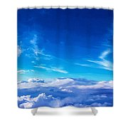Above The Clouds Sky Is Always Blue Shower Curtain