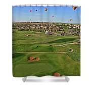 Above The Course Shower Curtain