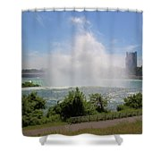 Above The Falls 3 Shower Curtain