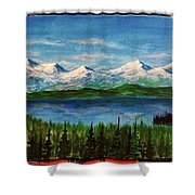 Above The Flathead  Shower Curtain