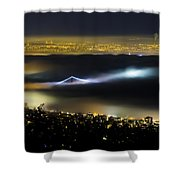 Above The Fog Shower Curtain