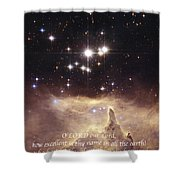 Above The Heavens Shower Curtain