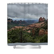 Above The Red Rocks Of Sedona  Shower Curtain