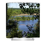 Above The Trees Shower Curtain
