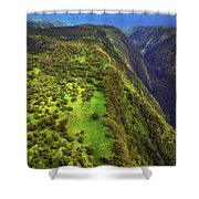 Above The Valleys Shower Curtain