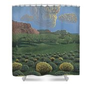 Above Tohdildon Wash Shower Curtain