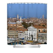 Above Venice Shower Curtain