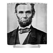 Abraham Lincoln -  Portrait Shower Curtain