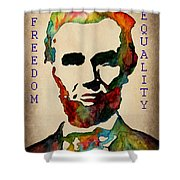 Abraham Lincoln Leader Qualities Shower Curtain