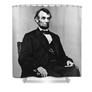 Abraham Lincoln Portrait - Used For The Five Dollar Bill - C 1864 Shower Curtain