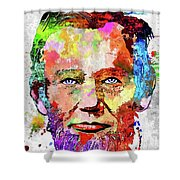 Abraham Lincoln Portrait Shower Curtain