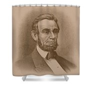 Abraham Lincoln - Savior Of His Country Shower Curtain