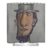 Abraham Lincoln Shower Curtain by Sonya Wilson
