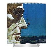 Abraham Lincoln's Nose On The Mount Rushmore National Memorial  Shower Curtain