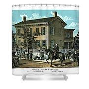 Abraham Lincoln's Return Home Shower Curtain