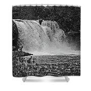 Abrams Falls Cades Cove Tn Black And White Shower Curtain