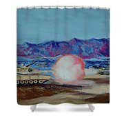 Abrams Firing Shower Curtain