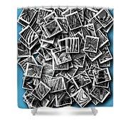 Abraxas Collage Shower Curtain by Visual Artist Frank Bonilla