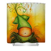 Absent Childhood Shower Curtain