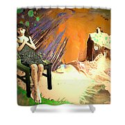Absent Love Shower Curtain
