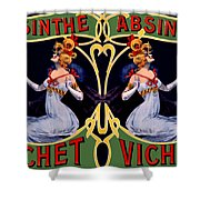 Absinthe Lady Ad Shower Curtain