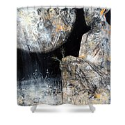 Absolutelly Fantastic Humanity Portret By Master Kloska Large Size Cosmic Garden Wow Shower Curtain
