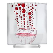 Absolution Of Amour Shower Curtain