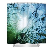 Absract Reeds No. 2 Shower Curtain