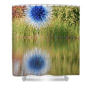 Abstact Sphere Over Water Shower Curtain