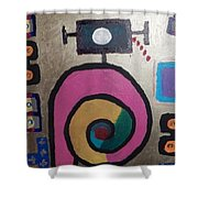 Abstract # 11 Shower Curtain