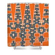 Abstract # 2060ew4a Shower Curtain