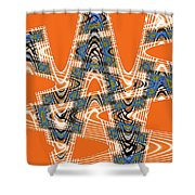 Abstract # 2060ew4bc Shower Curtain