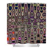 Abstract # 7952 3wa Shower Curtain