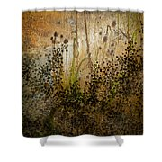 Abstract -  Burning Bush Shower Curtain