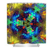 Abstract 012211 Shower Curtain