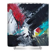 Abstract 026 Shower Curtain