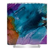 Abstract 034 Shower Curtain