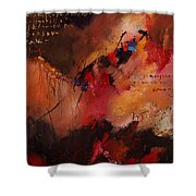 Abstract 0408 Shower Curtain
