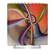 Abstract 0414111 Shower Curtain