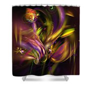 Abstract 05171 Shower Curtain