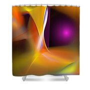 Abstract 052411b Shower Curtain