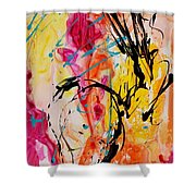 Abstract 058 Shower Curtain