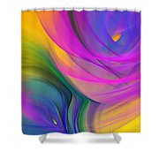 Abstract 060611b Shower Curtain