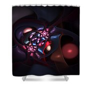 Abstract 060910b Shower Curtain