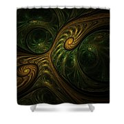 Abstract 061310a Shower Curtain