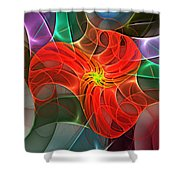 Abstract 061710a Shower Curtain