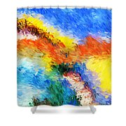Abstract 070411 Shower Curtain