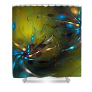 Abstract 071910 Shower Curtain