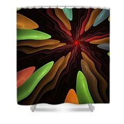 Abstract 080610 Shower Curtain