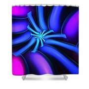 Abstract 080610b Shower Curtain